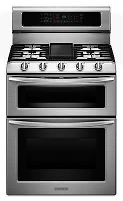 30-Inch, 5-Burner Freestanding Double Oven Range with Even-Heat™ Convection (KDRS505XSS )  