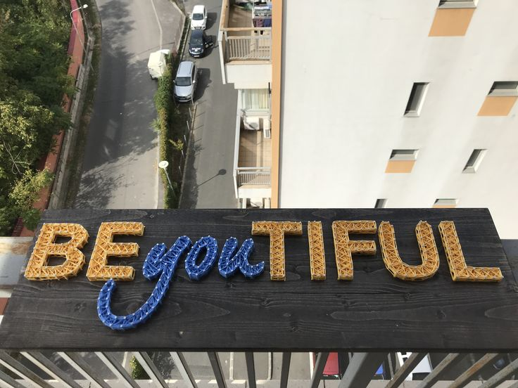 BEyouTIFUL  Dimension : 30x80cm  #ARTEFACT  . . .  #stringart #instaart #craft #handcrafted #dailyart #handmade #be #you #beautiful #beyoutiful #motivation #wood #woodworking #creative #art #artwork #homedecor #decoration #gift #cadou #happygirl