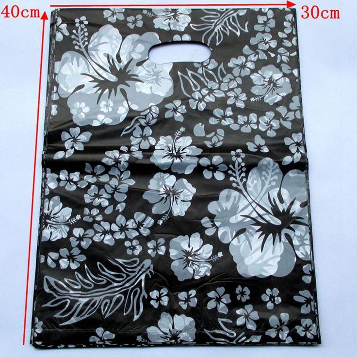 100pcs New Black white decorative pattern Pretty  Pattern Plastic Gift Bag Packaging Bags 40*30cm154042 #Affiliate