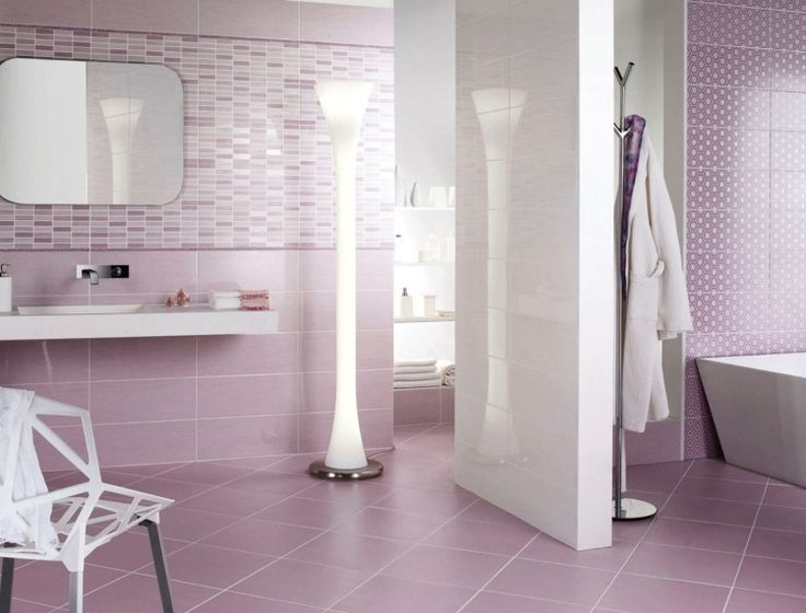 Purple And Violet Bathroom Wall Tiles Designs