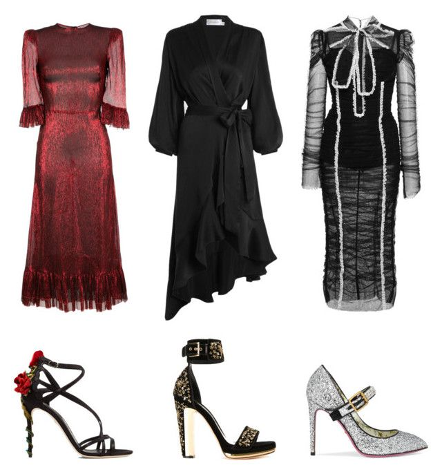 """Red carpet"" by eirenechoo on Polyvore featuring Zimmermann, The Vampire's Wife, Dolce&Gabbana, Alexander McQueen and Gucci"
