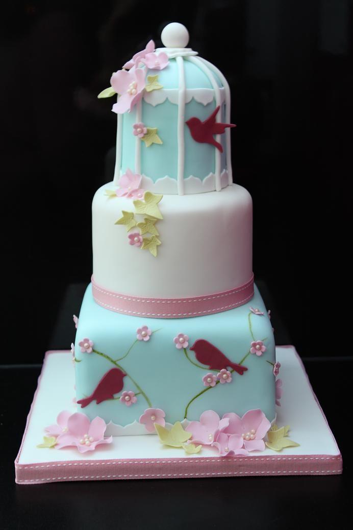 birdcage wedding cake