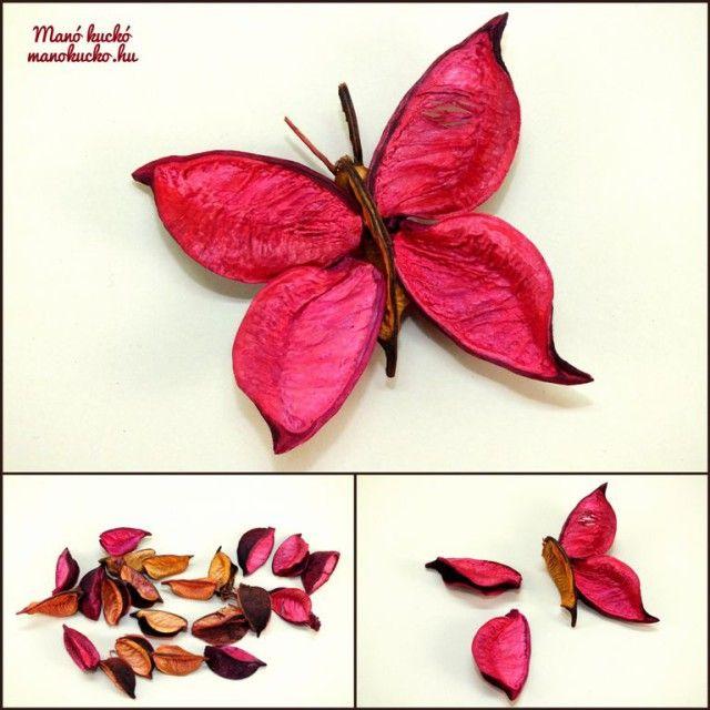 Egyszerű dekoráció termésekből - Manó kuckó