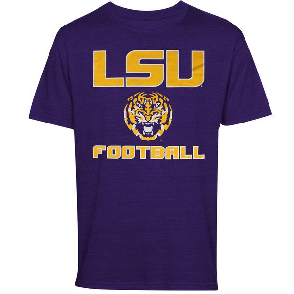 LSU Tigers Football LSU Tiger Head T-Shirt - Purple - $13.99