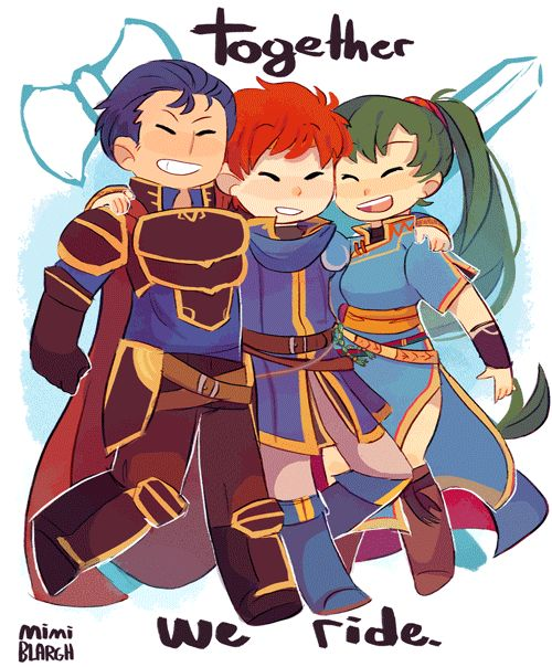 Fire Emblem: Rekka no Ken - Hector, Eliwood, and Lyn. Best BrOT3 since I don't ship Lyn with either of these two