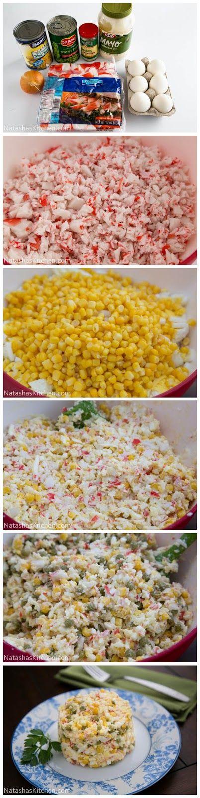 Crab Salad Recipe, no mayo though Greek yogurt.