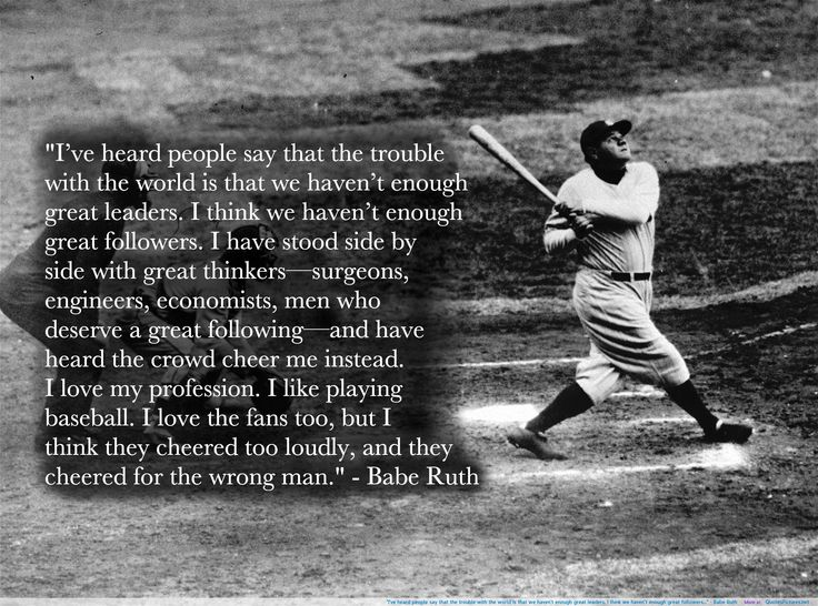 babe ruth quotes Babe Ruth motivational