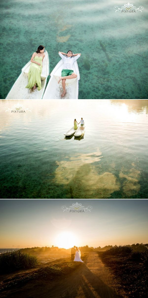 Just love the tranquility of  Lembongan Island. Perfect getaway for prewedding // View Bali Pixtura's portfolio at  http://www.onethreeonefour.com/listing/BaliPixtura // #sunrise #prewedding #bali