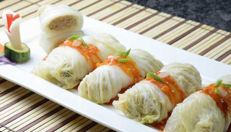 Kol Gulung Isi Ayam Udang   Resepkoki.co