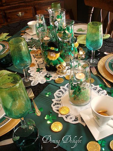 Dining Delight: St. Patrick's Tables and Decor