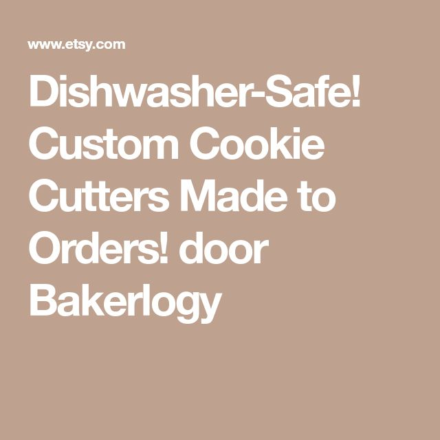 Dishwasher-Safe! Custom Cookie Cutters Made to Orders! door Bakerlogy