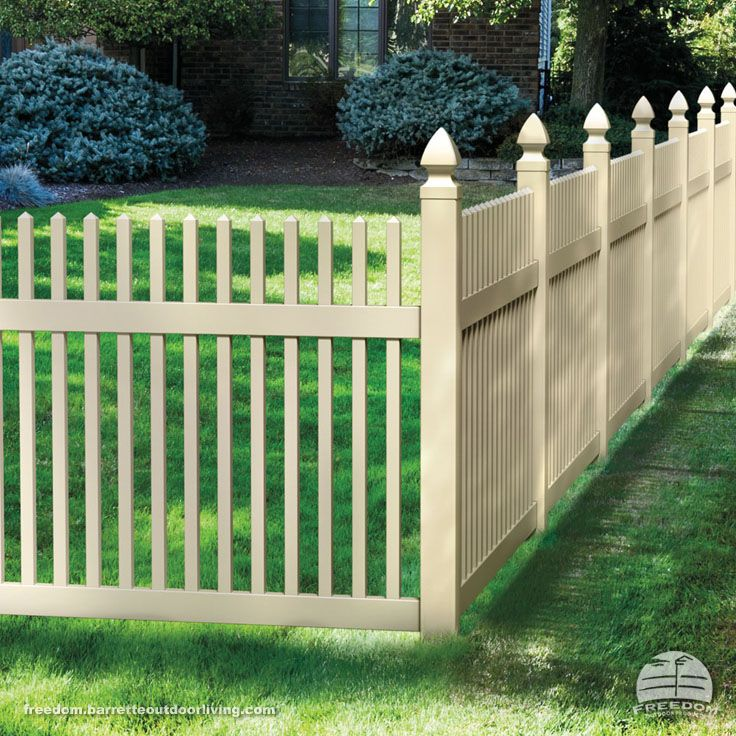 Straight Picket Fence With Decorative Posts Low
