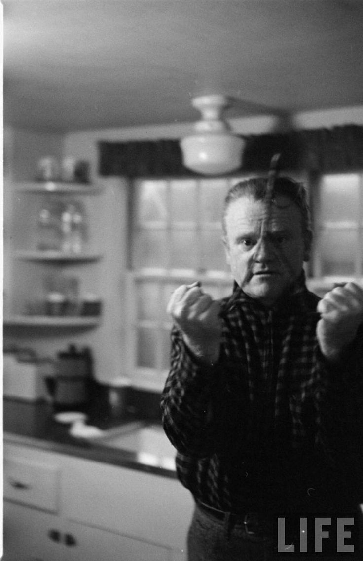 divining. James Cagney at home on Martha's Vineyard, 1955. LIFE Archives