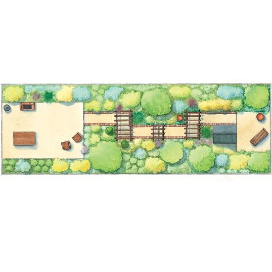 Image result for long thin garden designs