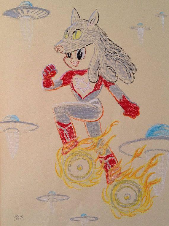 High Priestess of Omebu  A mystical superhero girl by Oily Chi of Felino Studio
