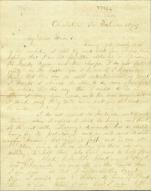 slavery and dear friend Slavery and the union the restoration of the union the paramount object   dear sir: i have just read yours of the 19th, addressed to myself through  i  waive it in deference to an old friend, whose heart i have always supposed to be  right.