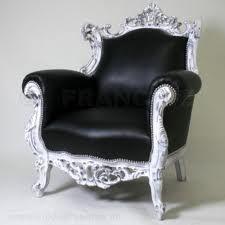 barok stoel zwart zilver