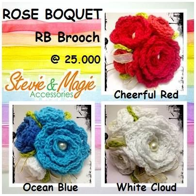 Rose Boquet Brooch. My favourite brooch by Stevie & Magie. Chat us at Black Berry PIN : 7D1A19E4