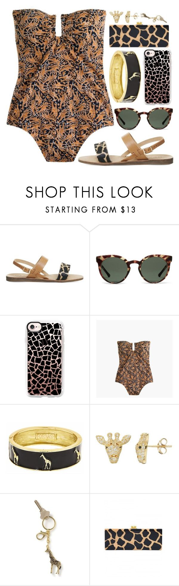 """Height Of Swimwear"" by rachael-aislynn ❤ liked on Polyvore featuring Office, Casetify, Drakes London, Fornash, SOPHIE MILLER and Edie Parker"