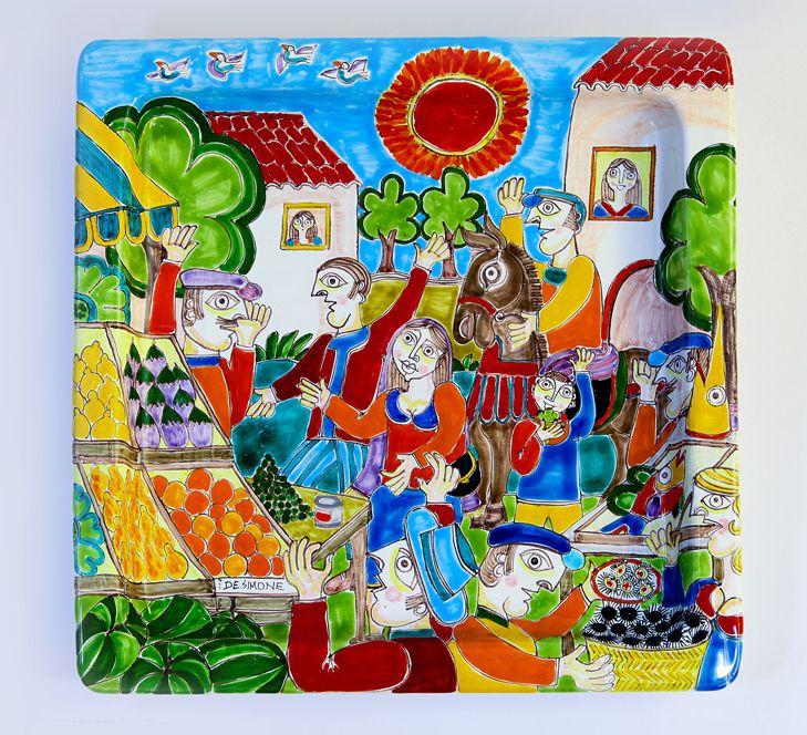 Ceramiche De Simone - Square Plate - DS line -  Piatto_Quadrato__4f44f9e53c577.jpg (729×664)