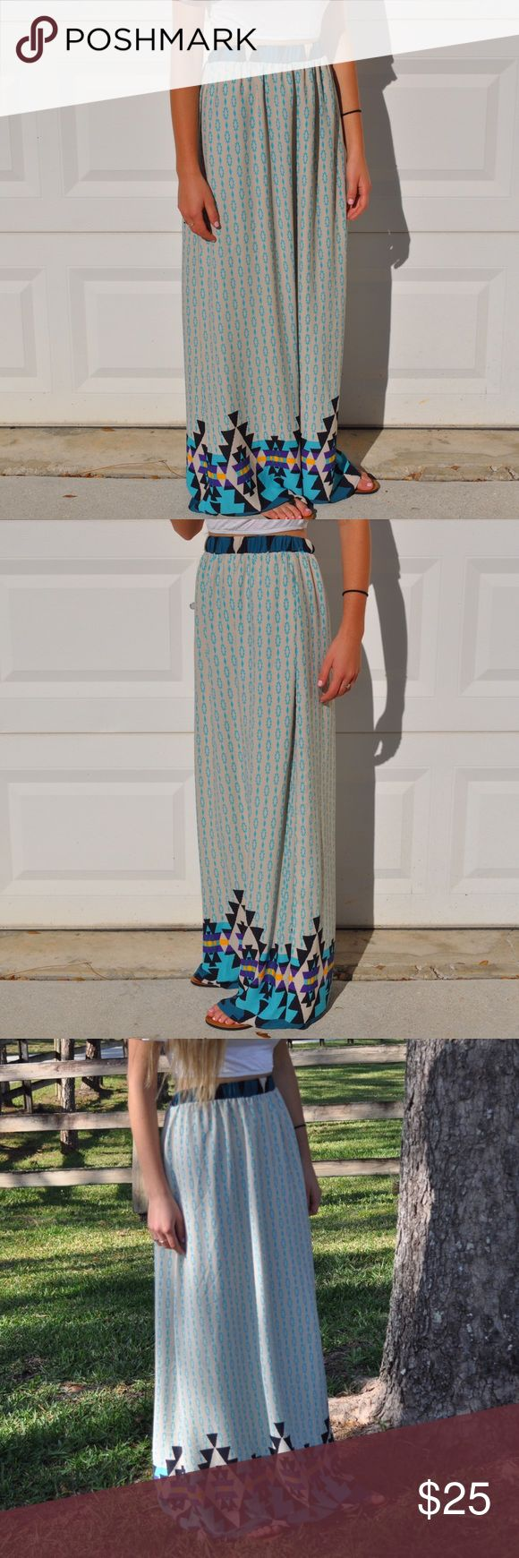 Aztec Maxi Skirt  Very pretty and comfy Maxi skirt. Skirts Maxi