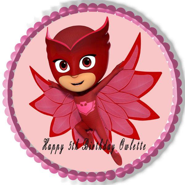 PJ MASKS (Nr4) Owlette - Edible Cake Topper OR Cupcake ...