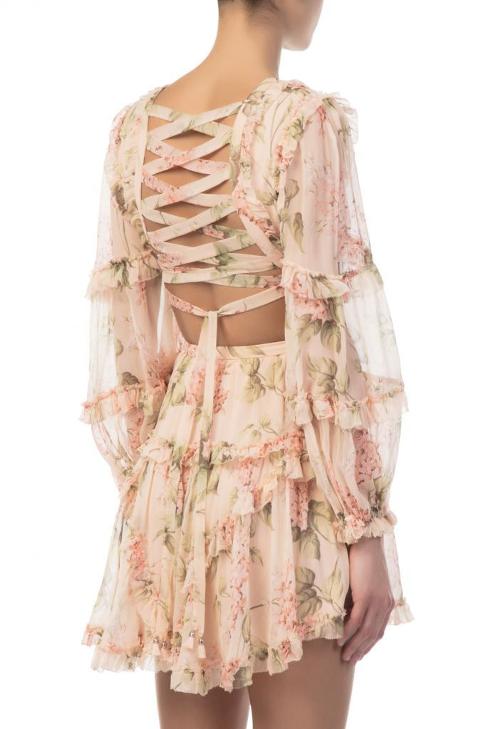 afc046445f94 Zimmermann - Prima Floating Cut Out Silk Dress