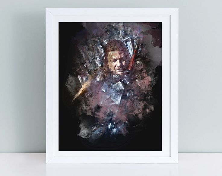 Game of Thrones print, Game of Thrones poster, Instant Download Game of Thrones printable, Eddard Stark poster aquarelle, Winter is Coming by TinyCuteShop on Etsy