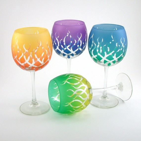 83 Best Images About Wine Glasses With Glitter On