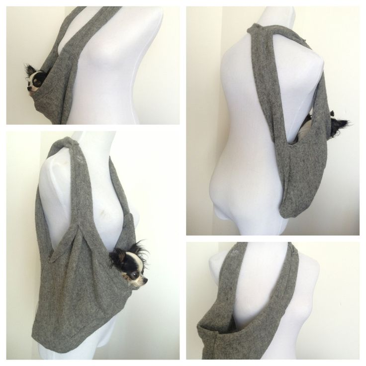 PUPPY POCKET SCARF PET SLING small dog pet carrier by HeartPup. This is so slick.