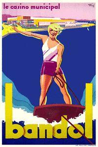 ... Vintage-art-deco-poster-voyage-francais-Bandol-annees-