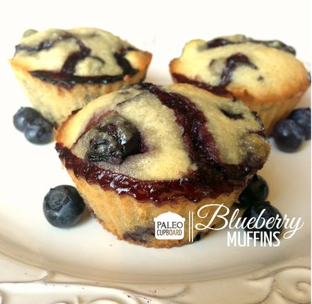 Paleo Blueberry Muffins #PaleoCupboard