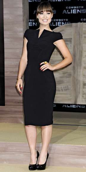 Olivia Wilde wearing a dress by Tom Ford.
