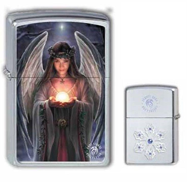 2004141 Zippo Feuerzeug Anne Stokes Yule Angel - beidseitiger Druck