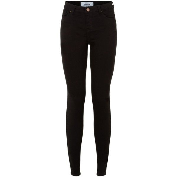 New Look Black Supersoft Super Skinny Jeans ($29) ❤ liked on Polyvore featuring jeans, pants, bottoms, black, zipper jeans, skinny fit jeans, zipper skinny jeans, button-fly jeans and 5 pocket jeans