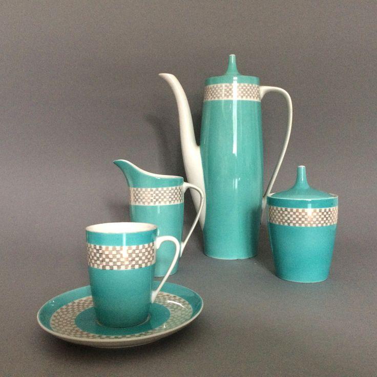 Serwis do kawy �Goplana�, porcelana Chodzie�, proj. W. Potacki, lata 60.