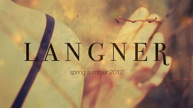 Langner / photo shoot /  Spring Summer 2012 by Bien. www.langner-fashion.com