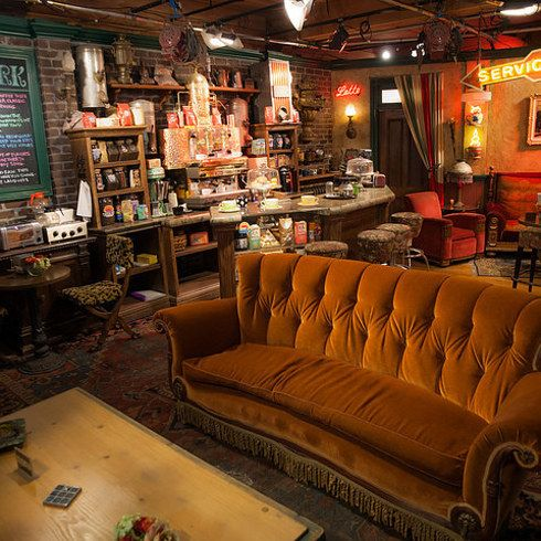 """Central Perk: Friends — New York  """"Everyone will get a chance to have the Friends experience when Central Perk opens in September. Warner Bros. and Eight O'clock Coffee will open a pop-up coffee shop that'll look exactly like the one where Rachel, Ross, Monica, Phoebe, Chandler, and Joey would spend most of their time."""" 
