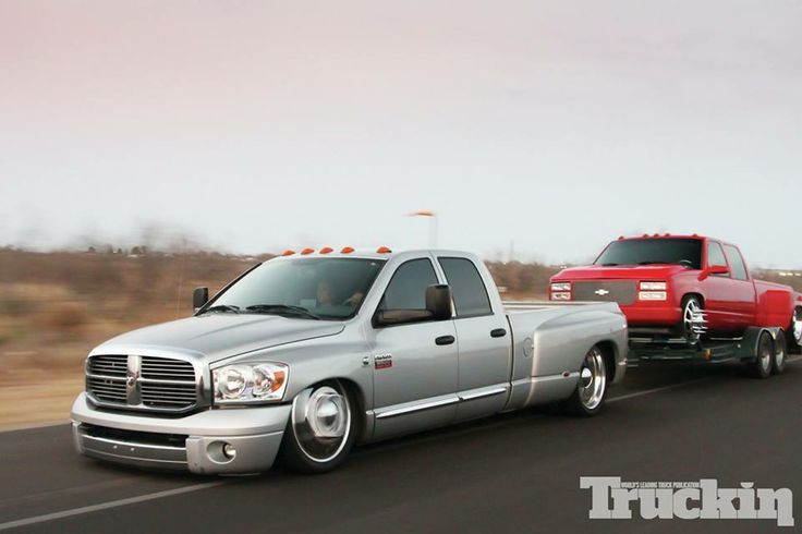 Visit The MACHINE Shop Café... ❤ Best of Trucks @ MACHINE ❤ (Dodge Dually Tows Chevy Dually)