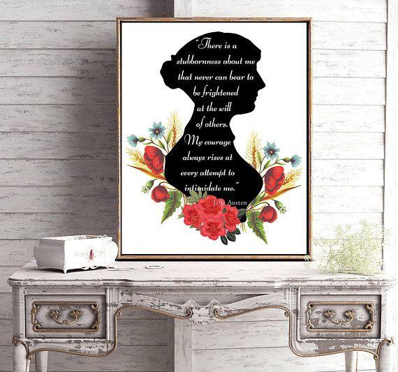 Jane Austen Print Pride and Prejudice Jane Austen Quote