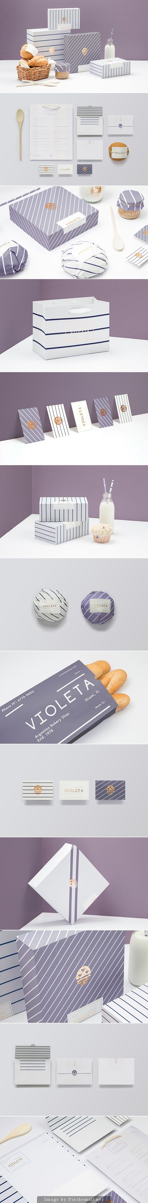 Here's all the gorgeous VIOLETA #packaging and #branding by Anagrama