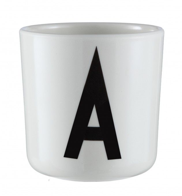 Letter plastic cup.