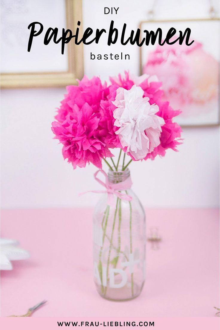 Diy Deko Schnell Und Einfach Papierblumen Basteln Diy Papier