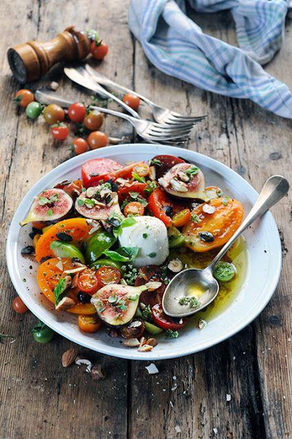 Salade de tomates figue et p'tites graines....