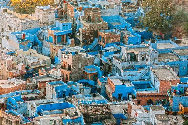 ONE PIECEのモデル?バケツをかぶったように青い街「ジョードプル」が神秘的 - Find Travel