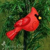 Felt Cardinal Ornament Pattern - via @Craftsy