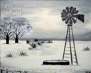Open to public west texas blanket of snow 11 16 2015 for Painting with a twist greenville tx