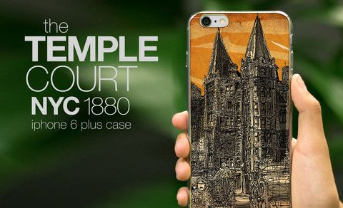 The Temple Court building in lower Manhattan, now a hip hotel and hipper IPhone 6 Case. www.theartpillow.com  #newyork