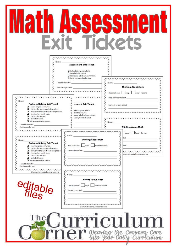 161 best Daily Student Assessments images on Pinterest - Exit Ticket Template