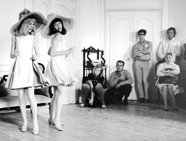 Françoise Dorléac — Renée Simonot (sitting on the chair) watches her...
